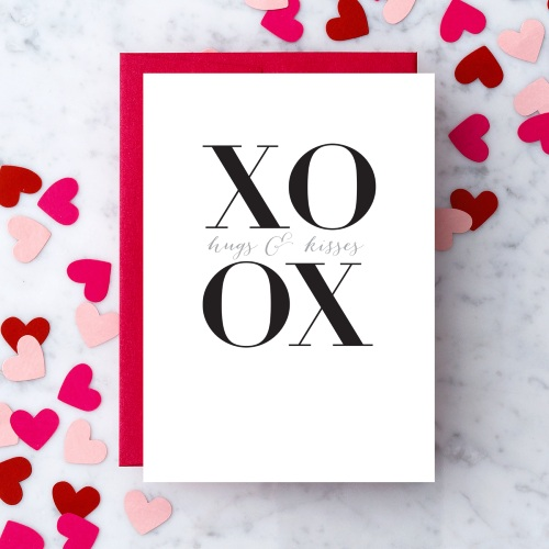 XOXO Card Design By Heart at Scent & Violet, flowers and gifts in Houston, TX