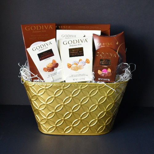Godiva Chocolates Gift Basket at Scent & Violet, flowers and gifts in Houston, TX