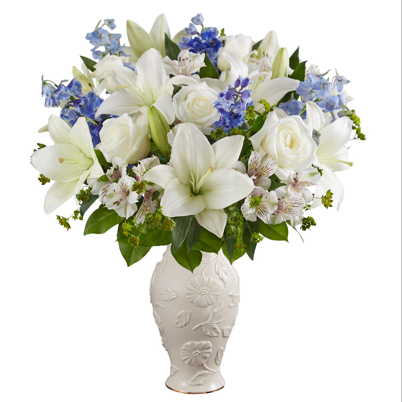 225 & Blue and White Lenox vase