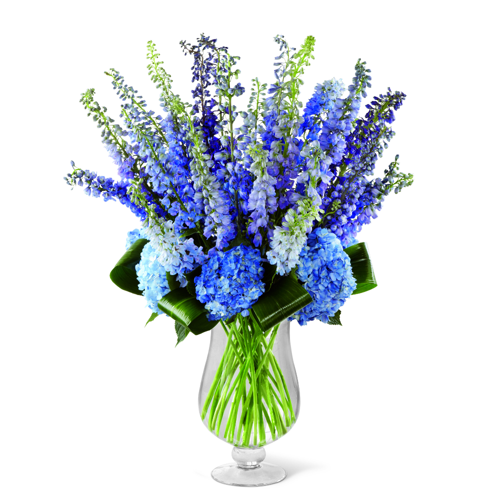 Brilliantly blue bouquet | Scent & Violet | flowers and ...