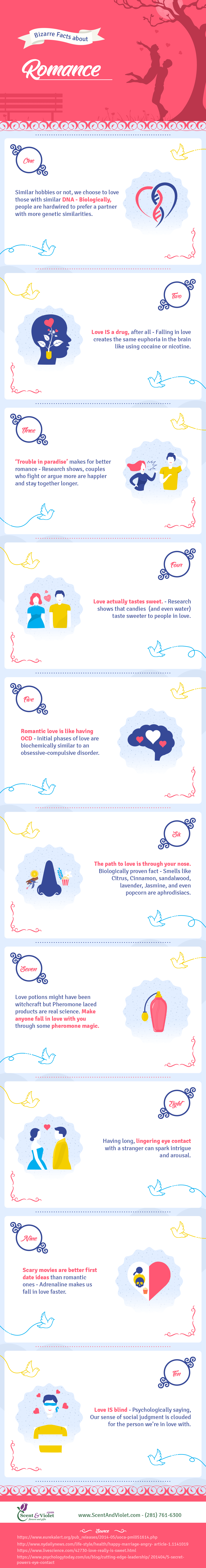 Bizarre facts about romance infographic