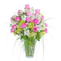 SOLD OUT Pink and White Elegance vase