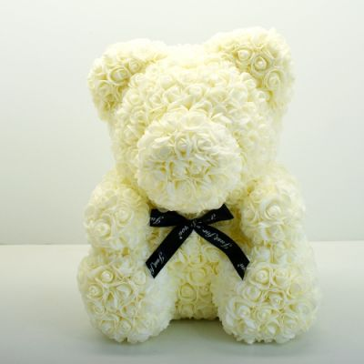 SOLD OUT Rose Bear - White