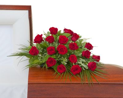 Red Rose Petite Casket Spray  in Houston, TX