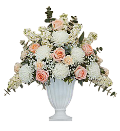 SOLD OUT - Pink and White Pedestal Urn  in Houston, TX