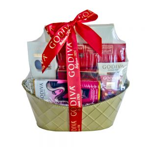 Administrative professionals day scent violet flowers and godiva gift basket in houston tx solutioingenieria Gallery