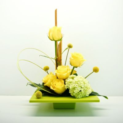 Uplifting Lime & Sunshine bouquet in Houston, TX