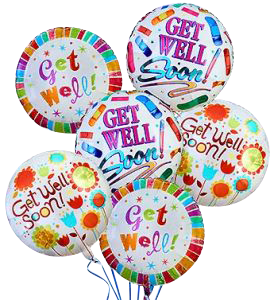 Get Well Soon Baloon Bouquet