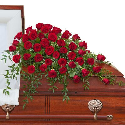 Simply Roses Supreme Casket Spray in Houston, TX