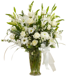 Beautiful White Vase Arrangement  in Houston, TX
