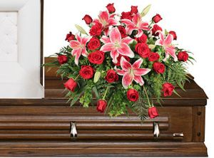 Stargazer casket spray  in Houston, TX