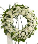 All White Standing Funeral Wreath  in Houston, TX