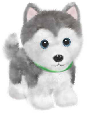 donna - husky puppy plush | scent & violet | flowers and gifts