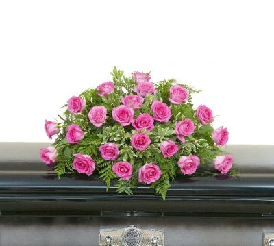 Pink Rose Casket Spray in Houston, TX
