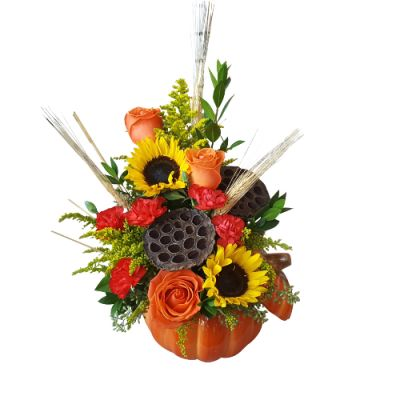 Fall pumpkin bouquet in Houston, TX